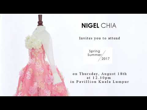 NIGEL CHIA KLFW 2016 Invitation