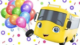 Balloon Party - Go Buster the Yellow Bus | Nursery Rhymes & Cartoons | LBB Kids