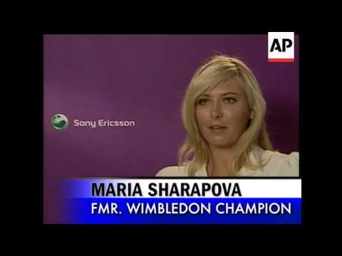 Former Wimbledon champ Maria Sharapova took a turn at modeling in a  London storefront this week as