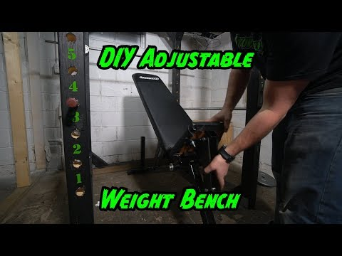 Diy Adjustable Weight Bench, made from scrap materials!!