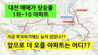 전국 매매가격 상승률 1위인 대전아파트/앞으로 더 오를…