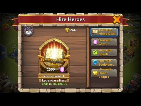 Castle Clash New Event: 10x Hero Hiring Deal