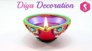 Soil Diya Decoration Idea By Sonali
