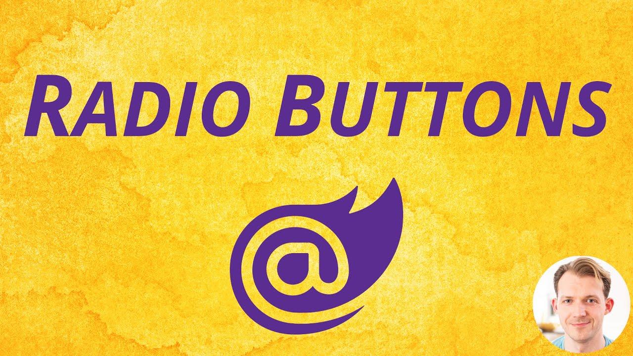 Radio Buttons with Blazor WebAssembly (InputRadioGroup & InputRadio Component) | Blazor Shorts