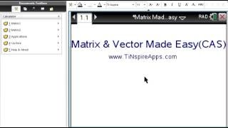 Step by Step : Matrix and Vector Made Easy for the TI-NSpire CX CAS