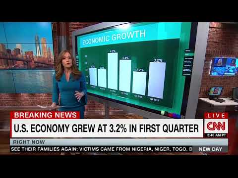 """CNN Reports """"Really Big"""" GDP Number, """"Solid Growth For The First Quarter"""""""