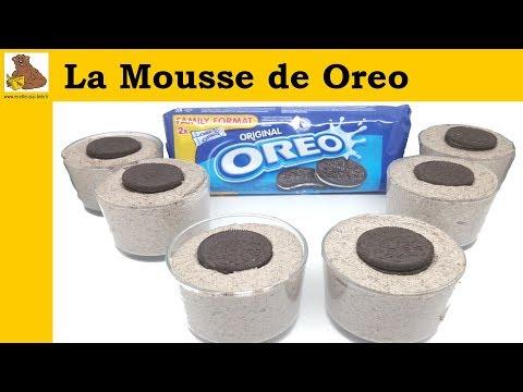 La Mousse de Oreo - recette rapide et...