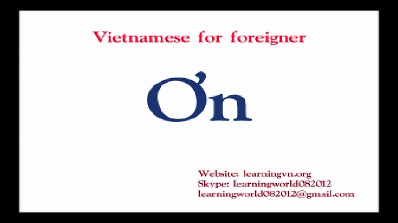 Learn Vietnamese Alphabet - YouTube