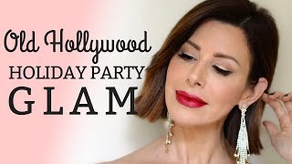 Old Hollywood Holiday Party Glam 💄✨| Dominique Sachse