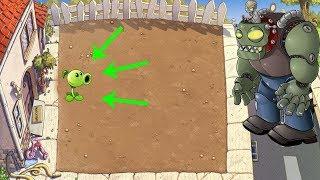 1 Peashooter vs Giga-Gargantuar Plants vs Zombies