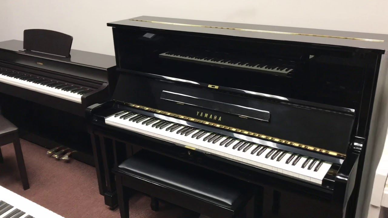 yamaha ydp184 digital piano compared to yamaha u1 acoustic upright piano youtube. Black Bedroom Furniture Sets. Home Design Ideas