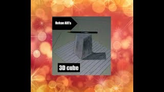 Draw 3D cube with pencil on paper...... |Rehan ART|