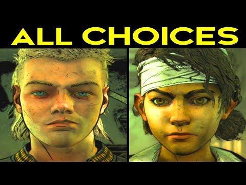 The Walking Dead Season 4 Episode 1 - ALL CHOICES & OUTCOMES Alternative Choices