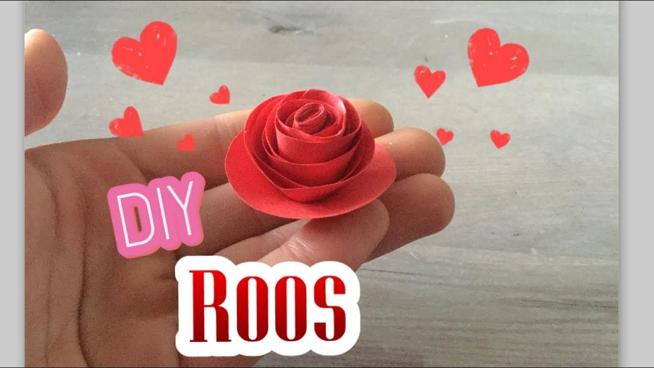 🌹 diy: roos knutselen van papier super makkelijk! valentijns