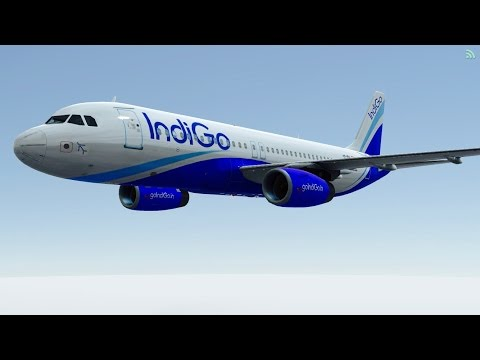 [HD] Infinite Flight Airbus A320. Multiplayer. ATC. Indigo takeoff at KNUC