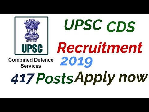 UPSC CDS Exam 1 RECRUITMENT 2019
