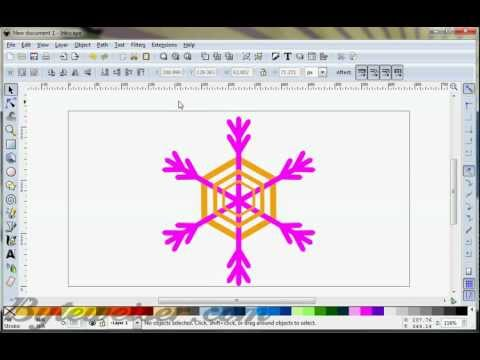 Byteweiser Inkscape Tutorial #7: Snowflakes and Fireflakes