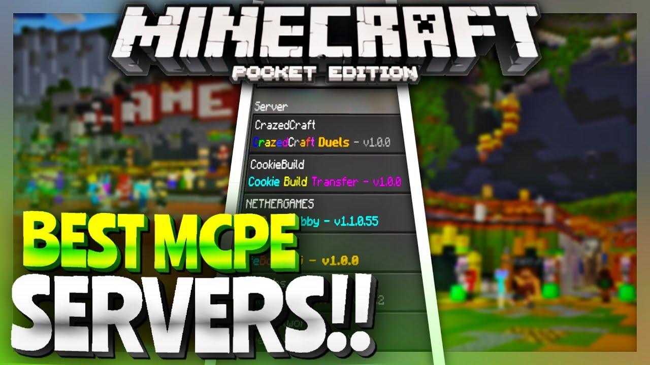 Top 5 Servers In Mcpe Minecraft Pe 1 1 Servers Best Minecraft Pocket Edition 1 1 4 Servers Youtube