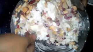 How To Make Salad( Fruit And Ice Cream)
