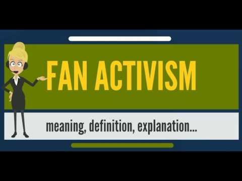 What is FAN ACTIVISM? What does FAN ACTIVISM mean? FAN ACTIVISM meaning, definition & explanation