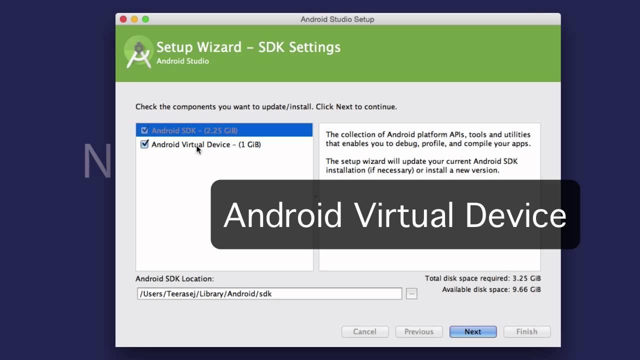 วิธีตั้ง Path ชี้ไปที่ Android SDK ของ Android Studio บน Mac OS X