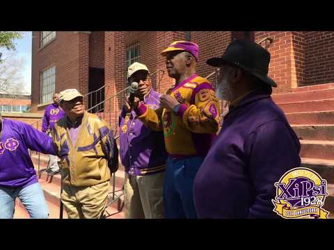 Xi Psi Chapter -Omega Psi Phi - 90th Celebration - Cookout/ Campus Clean Up / Plot Rededication