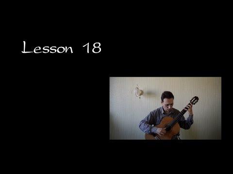 "Lesson 18 Guitar ""Mixed Legato. Syncopation"" Capriccio Espagnol Sheet music Ноты в описании"