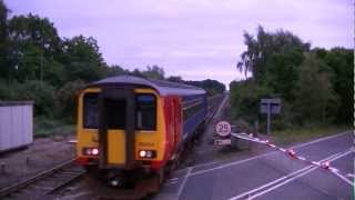 156414 using the crossover at Holton-le-Moor - 9th June 2012