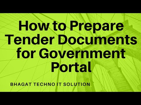 How to Prepare Tender Documents for Government Portal