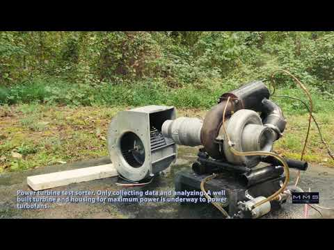 Home-built Gas Turbine Turbojet Engine - 1st Run and Testing Documentary
