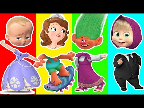 Thumbnail: Colors for Children Learn Wrong Heads Dreamworks Trolls Boss Baby Masha and the Bear Sofia The First