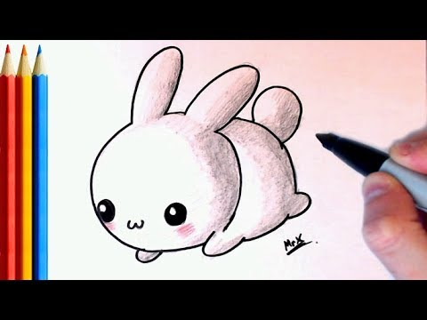 How to Draw Simple Cute Bunny - Step by Step Tutorial ...