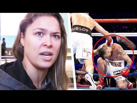 Rousey's teammate KO'd by GGG; Brian Ortega reacts ringside; Johnson on Conor vs Khabib