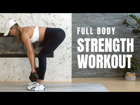Full Body Strength Workout With Dumbbells