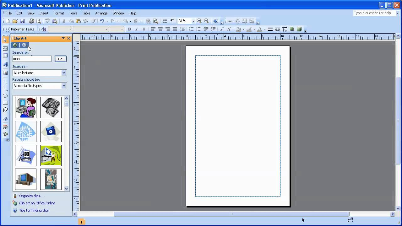 insert clipart in ms publisher 2007 youtube rh youtube com Microsoft PowerPoint Clip Art microsoft office 2007 clipart download