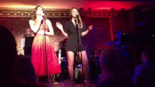 melissa benoist singing with laura benanti at feinsteins54 below