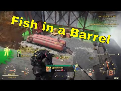 Shooting Fish In A Barrel - Fallout 76 PVP