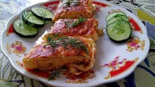 Обалденный рецепт РУЛЕТА из яиц и сыра / Завтрак за 10 минут Рецепт омлета рулета от бабушки