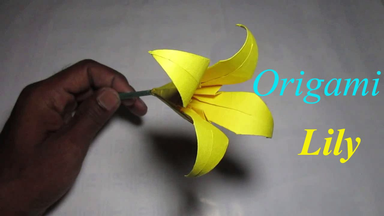 Origami Lily Flower How To Make Origami Lily Flower Step By Step