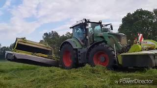 Fendt 824 with Claas Disco Triplemower weightproblem solved with AGRIbumper frontweight
