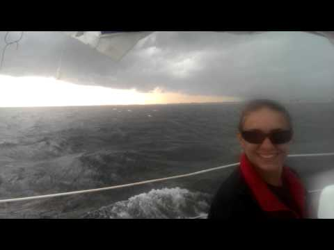 sailing, with a little storm