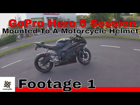 GoPro Hero 5 Session Mounted To A Motorcycle Helmet Footage