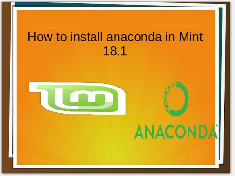 how to install anaconda on Linux mint