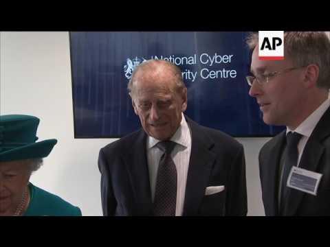 Queen Elizabeth II tours Cyber Security Center