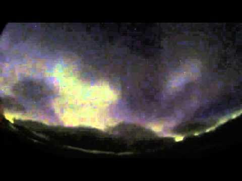 Chukchi Sea Aurora Time Lapse 7-8 Oct  2015