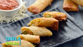 Spring Rolls, Chinese Veg Spring Roll Recipe By Tarla Dalal