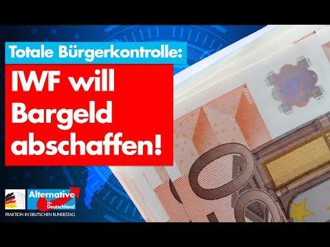 IWF will Bargeld abschaffen! - AfD-Fraktion im Bundestag