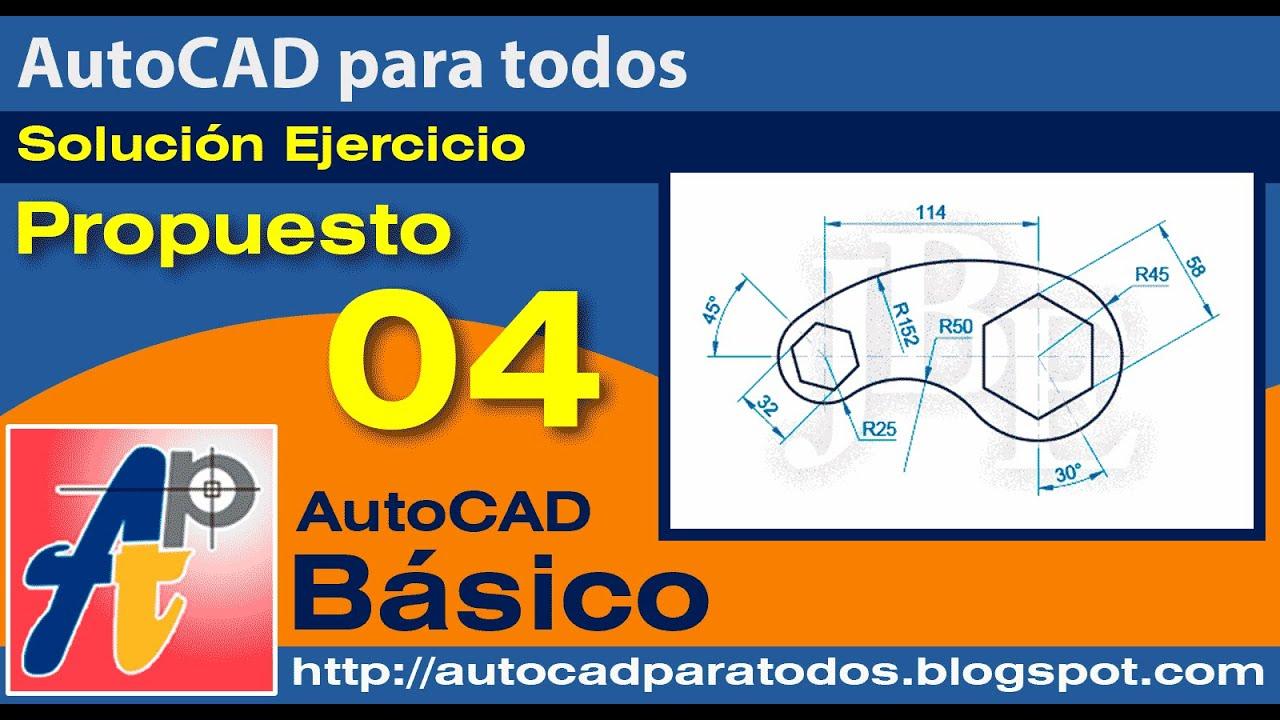 Solución Ejercicio Propuesto 04 - AutoCAD Básico