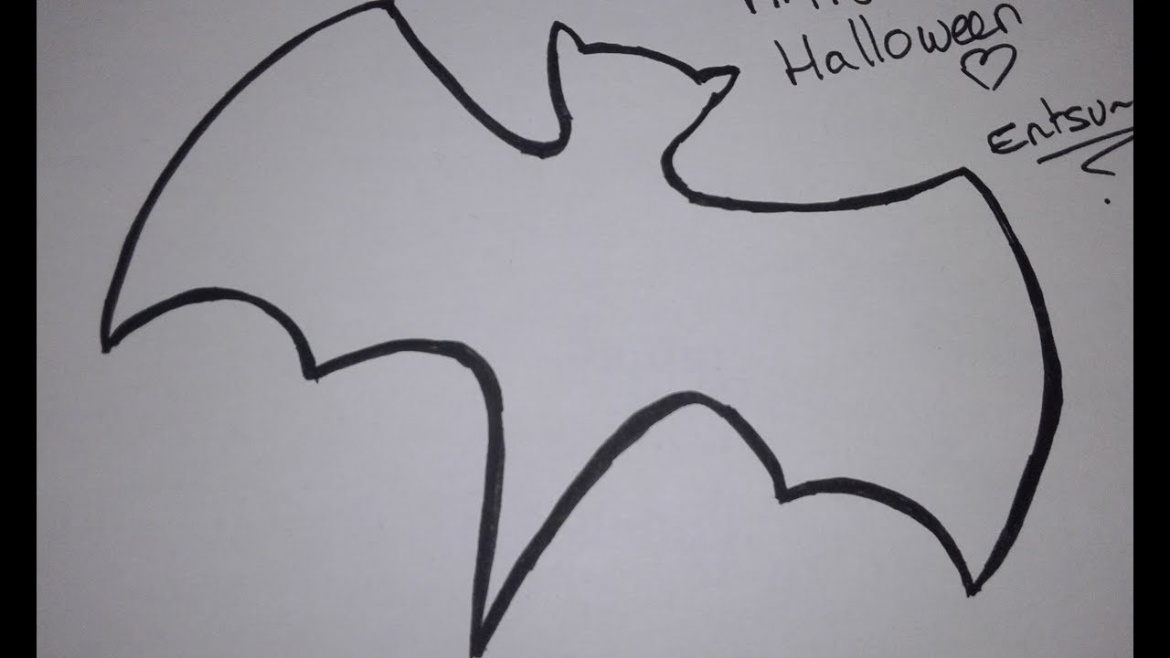 Chauve Souris Dessin Halloween.Comment Dessiner Une Chauve Souris Halloween2017 Youtube
