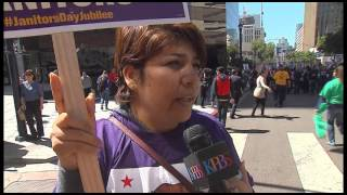 San Diego Janitors, Security Guards March Against Workplace Sexual Assault